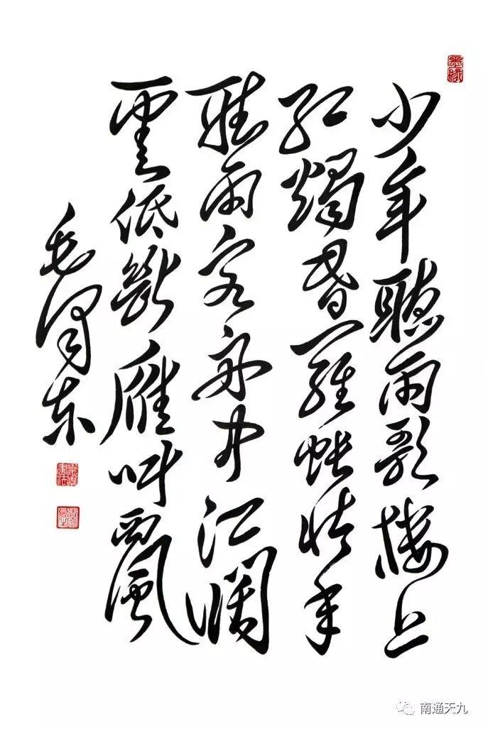 南通天九《毛体书法》汇展