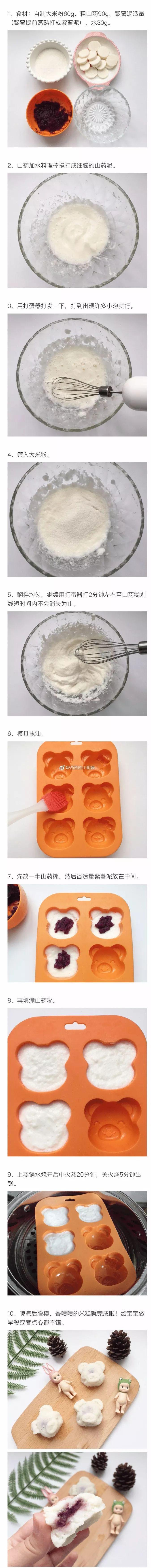 【爱育幼童 | 妈妈厨房】 紫薯山药夹心米糕