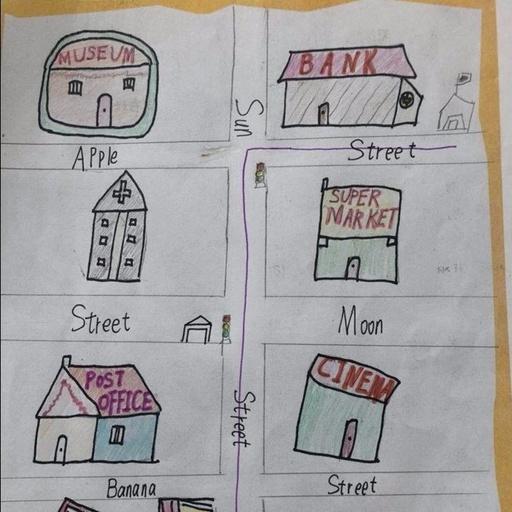 【港闸实小】五年级先生自制英文舆图