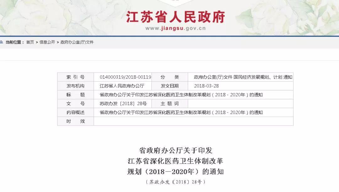 干系每个南通人,江苏最新医改方案曝光!片面推行按病种付费,南京已开端施行